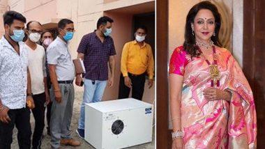 Hema Malini ने कोरोना रुग्णांसाठी मथुरेत लावली Oxygen Enhancer Machine, ट्विटरवर फोटोज शेअर करुन दिली माहिती