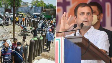देशाला PM आवास नाही, श्वास पाहिजे, राहुल गांधींनी फोटो ट्विट करुन केंद्र सरकारवर साधला निशाणा