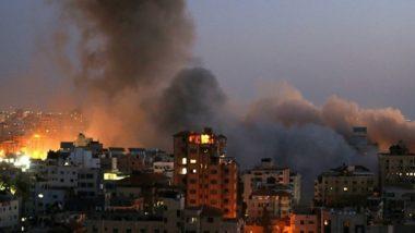 Israel-Palestine Conflict: गाझा येथे पुन्हा एकदा एअरस्ट्राइक, पहाटेच्या वेळेस इज्राइलच्या लढाऊ विमानांतून 10 मिनिटांपर्यंत बॉम्ब हल्ले