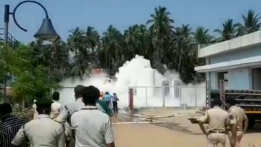 Oxygen Tank Leakage at South Goa District Hospital: दक्षिण गोवा जिल्हा रुग्णालयात ऑक्सिजन टँकर गळती, अग्निशमन दलाच्या गाड्या घटनास्थळी दाखल