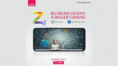 Lava Z2 Max भारतात लाँच, 8000 किंमतीच्या आत उपलब्ध होणा-या या स्मार्टफोनमध्ये आहे 6000mAh बॅटरी