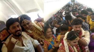Marriage on Flight: बाबो! लॉकडाऊनच्या भीतीने चक्क विमानातच पार पडला विवाहसोहळा; 161 वऱ्हाडी होते उपस्थिती