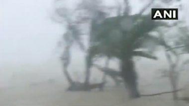 Cyclone Yaas: ओडिशा राज्याच्या भद्रक जिल्ह्यात वादळी वाऱ्यासह जोरदार पावसास सुरुवात