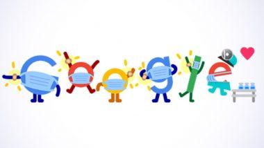 Covid Vaccine Google Doodle: कोव्हिडची लस टोचून घ्या आणि सुरक्षित व्हा हा संदेश देण्यासाठी गूगलचं खास डूडल