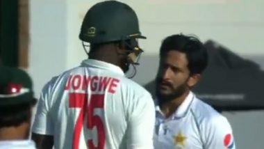 ZIM vs PAK Test 2021: पाकिस्तानचा हसन अली आणि झिम्बब्वेचा Luke Jongwe यांच्या क्रिकेटच्या मैदानावर बाचाबाची; पाहा नाट्यमय व्हिडिओ