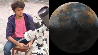 Pune: 50 हजार प्रतिमांमधून साकारले चंद्राचे रंगीत छायाचित्र; 16 वर्षांच्या Prathamesh Jaju ची विलक्षण कामगिरी (See Photos)