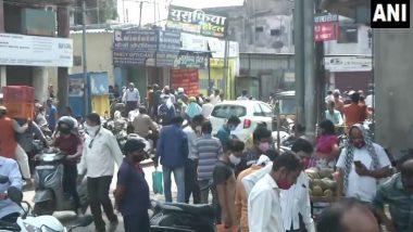 Maharashtra: नागपूर मध्ये लॉडाउनचे नियम ढाब्यावर, मार्केटमध्ये नागरिकांची तुफान गर्दी (See Photos)