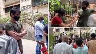 राखी बांधून महिलेने केला Sonu Sood चा सन्मान; अभिनेत्याच्या घराबाहेरील Video Viral