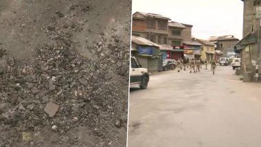 जम्मू-काश्मीर: श्रीनगर शहरातील नवा बाजार परिसरातील दहशतवाद्यांनी भारतीय सुरक्षा दलावर आज ग्रेनेड फेकला