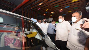 Drive In Vaccination Center In Nagpur: सीताबर्डी येथील ग्लोकल मॉल मध्ये 60 च्या वरील नागपूरकरांना  'ड्राईव्ह इन वॅक्सिंनेशन' च्या माध्यमातून मिळणार कोविड 19 ची लस