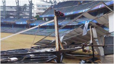 Cyclone Tauktae Wreaks Havoc: मुंबईच्या वानखेडे स्टेडियमला तौक्ते चक्रीवादळाचा बसला फटका, स्टेडियमची अशी झाली अवस्था, पहा व्हायरल Photo
