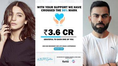 Virat Kohli-Anushka Sharma च्या कोरोना विरुद्धच्या लढ्याला मिळाले मोठे यश, 24 तासांच्या आत जमा झाले 3.6 कोटी रुपये