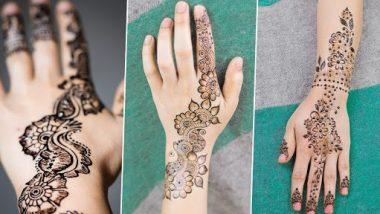 Simple Mehndi Design For Eid al-Fitr : ईद-अल-फितर साठी हातावर काढा 'या' सोप्या अरेबिक मेहंदी डिझाईन
