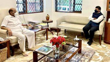 Devendra Fadnavis Meet Sharad Pawar: देवेंद्र फडणवीस यांनी घेतली शरद पवार यांची भेट; राजकीय वर्तुळात चर्चेला उधाण