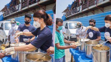 Jacqueline Fernandez कोरोना काळात गरीबांसाठी उतरली रस्त्यावर, करतेय अन्नदानासारखे महान कार्य