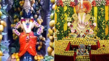 Akshay Tritiya निमित्त पुण्याच्या श्रीमंत दगडूशेठ हलवाई गणेश मंदिर आणि पंढरपूरच्या विठ्ठल-रखुमाई मंदिरात आंब्यांंची आरास; पहा फोटोज