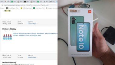 Amazon वरुन ऑर्डर केले माऊथवॉश पण डिलिव्हर झाला Redmi Note 10; मग ग्राहकाने केले 'हे' काम