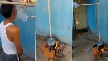 Desi Jugaad Video: वाफ घेण्यासाठी तरुणाने लढवली अनोखी शक्कल, प्रेशर कुकरला बनवले स्टिमर