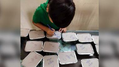 कोविड19 रुग्णांसाठी आईने बनवलेल्या जेवणाच्या डब्यावर चिमुकल्याने लिहिला प्रेमळ संदेश; Viral Photo वर नेटकऱ्यांकडून कौतुकाचा वर्षाव