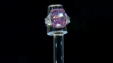 Largest Ever Purple-Pink Diamond: सर्वात मोठ्या पर्पल पिंक डायमंड 'द सकुरा' चा 213 कोटींना लिलाव; हिऱ्यांची चमक पाहुन व्हाल अचंबित