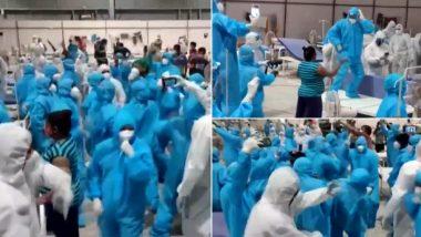 Mumbai: गोरेगाव येथील Nesco कोविड सेंटरच्या वर्षपूर्तीनिमित्त आरोग्यसेवकांचे रुग्ण वॉर्डमध्ये नृत्य (Watch Video)
