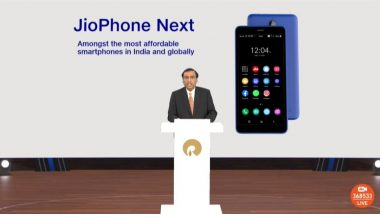 Reliance AGM 2021: रिलायन्स जिओकडून सर्वात स्वस्त JioPhone Next स्मार्टफोनची घोषणा; 'या' दिवशी होणार उपलब्ध