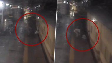 Mumbai: RPF जवान आणि रेल्वे गार्डच्या प्रसंगावधानामुळे वाचले ट्रेनखाली येणाऱ्या प्रवाशाचे प्राण (Watch Video)