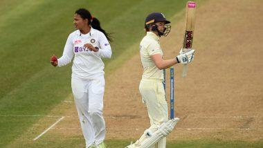 IND (W) vs ENG (W) 1st Test Day 1: कर्णधार हीथर नाईट आणि टॅमी ब्युमॉन्टची अर्धशतकीय खेळी, इंग्लंडच्या पहिल्या दिवसाअखेर 6 बाद 269 धावा