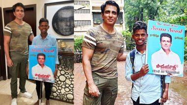 Sonu Sood चा जबरा फॅन; अभिनेत्याला भेटायला हैद्राबादवरून अनवाणी चालत आला मुंबईला, जाणून घ्या सोनू सूदची प्रतिक्रिया
