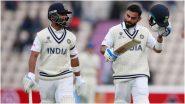 IND vs NZ WTC Final 2021 Day 2: अंधुक प्रकाशामुळे दिवसाचा खेळ स्थगित; विराट-अजिंक्यची अर्धशतकी भागीदारी, दिवसाखेर जाणून घ्या टीम इंडियाची स्थिती
