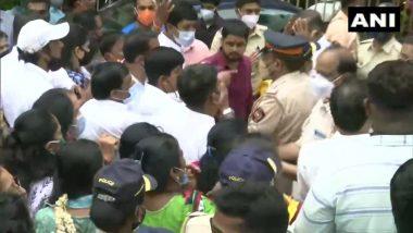 Shiv Sena Bhavan: शिवसेना-भाजप कार्यकर्त्यांमध्ये शिवसेना भवन समोर राडा
