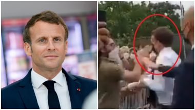 Emmanuel Macron: फ्रान्सचे राष्ट्राध्यक्ष इम्मानुएल मैक्रोन यांना गर्दीत थप्पड; दोघांना अटक