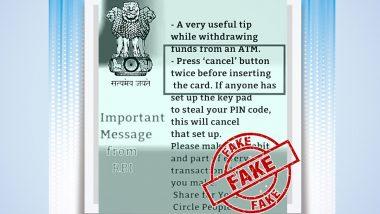 Fact Check: PIN चोरी टाळण्यासाठी ATM मध्ये Transaction करण्यापूर्वी दोनदा 'Cancel' बटण दाबा? जाणून घ्या RBI च्या नावे व्हायरल होणाऱ्या पोस्टमागील सत्य