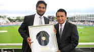 WTC फायनल सामन्यापूर्वी ICC Hall of Fame मध्ये प्रवेश केलेल्या श्रीलंकन दिग्गज Kumar Sangakkara यांना सुनील गावस्करने दिली खास भेट, पाहा Photo