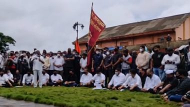 Maratha Mukh Morcha in Kolhapur: कोल्हापूर येथील मराठा मूक मोर्चा आंदोलनास अॅड. प्रकाश आंबेडकर उपस्थित