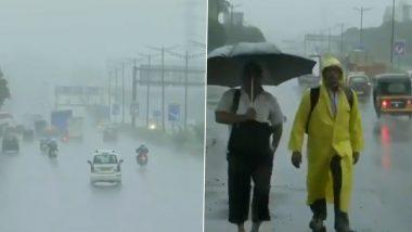 Mumbai Monsoon Updates: मुंबईत जोरदार पावसाचारस्ते वाहतुकीला फटका;हिंदमाता, धारावी, सायन समवेत अनेक साचलं परिसरात पाणी