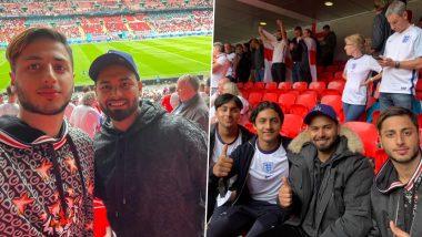 EURO 2020: प्रेक्षकांनी खचाखच भरलेल्या Wembley Stadium मध्ये Rishabh Pant ने लुटला फुटबॉलला आनंद, पाहा Photos