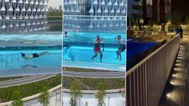 Sky Pool Viral Video: जमिनीपासून 115 फूट उंच हवेत आहे हे स्विमिंग पूल, व्हिडिओ पाहून तुम्हीही व्हाल हैराण
