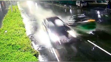 Hyderabad Road Accident Video: भरघाव वेगाने निघालेल्या ऑडी कारची रिक्षाला जोरदार धडक, एकाचा मृत्यू; पाहा अंगाचा थरकाप उडवणारा व्हिडीओ