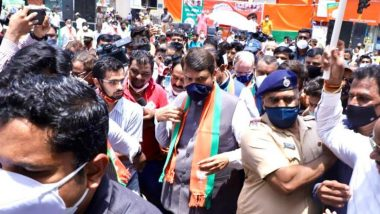 BJP Chakka Jam Aandolan: ओबीसी राजकीय आरक्षणासाठी रस्त्यावर उतरलेल्या देवेंद्र फडणवीस यांना पोलिसांनी नागपूरात घेतलं ताब्यात