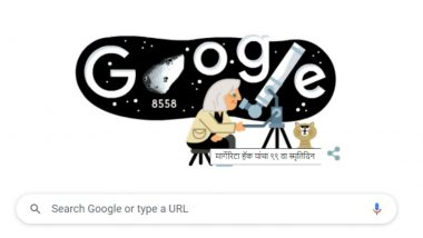 Margherita Hack Google Doodle: खगोलशास्त्रज्ञ मार्गेरिटा हॅक यांच्या जन्मदिनी गूगल ने खास डूडल साकारत  दिली मानवंदना