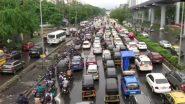 Mumbai Traffic Update: मुंबईत मुसळधार पावसामुळे Western Express Highway वर वाहतूक कोंडी