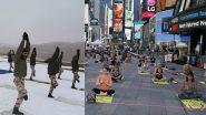 International Yoga Day 2021: भारतात लद्दाख च्या  Pangong Tso lake पासून अमेरिकेच्या Times Square परिसरात आज योग दिनाचा उत्साह; पहा फोटोज