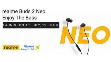 Realme Buds 2 Neo इअरफोन येत्या 1 जुलै रोजी भारतात होणार लॉन्च, जाणून घ्या किंमत