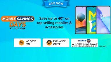 Amazon Mobile Savings Days Sale 2021 अंतर्गत Realme X7, Oppo F19 Pro+ 5G सह OnePlus च्या स्मार्टफोनवर मिळणार जबरदस्त डिस्काऊंट; जाणून घ्या ऑफर्स