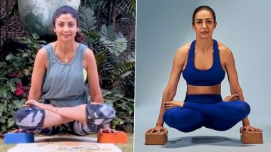 शिल्पा शेट्टी, मलायका अरोरा सह 'या' बॉलिवूड अभिनेत्रींचा प्रेरणादायी योगाभ्यास; पहा Videos