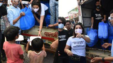 Sunny Leone ने पती डेनियल वेबर सोबत गरजूंना केले अन्नदान; पहा  Photos