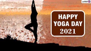 International Yoga Day 2021 Wishes & HD Images: आंतरराष्ट्रीय योगा दिनानिमित्त हेWhatsApp Stickers, Happy Yoga Day Messages, Facebook, Greetings मित्र-परिवाराला पाठवून प्रोत्साहित करूयात