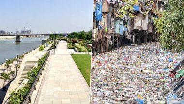 Fact Check: प्लास्टिकच्या कचर्याने भरलेल्या नदीचा 'तो' फोटो Mithi River चा नाही; भाजपच्या Priti Gandhi यांनी शेअर केला चुकीचा फोटो