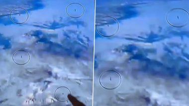 Fleet Of 10 UFOs: आंतरराष्ट्रीय अंतराळ स्थानकाजवळ 10 युएफओ कॅमेऱ्यामध्ये कैद झाल्याचा दावा; Aliens च्या अस्तित्वाबाबत चर्चेला उधाण (Watch Video)